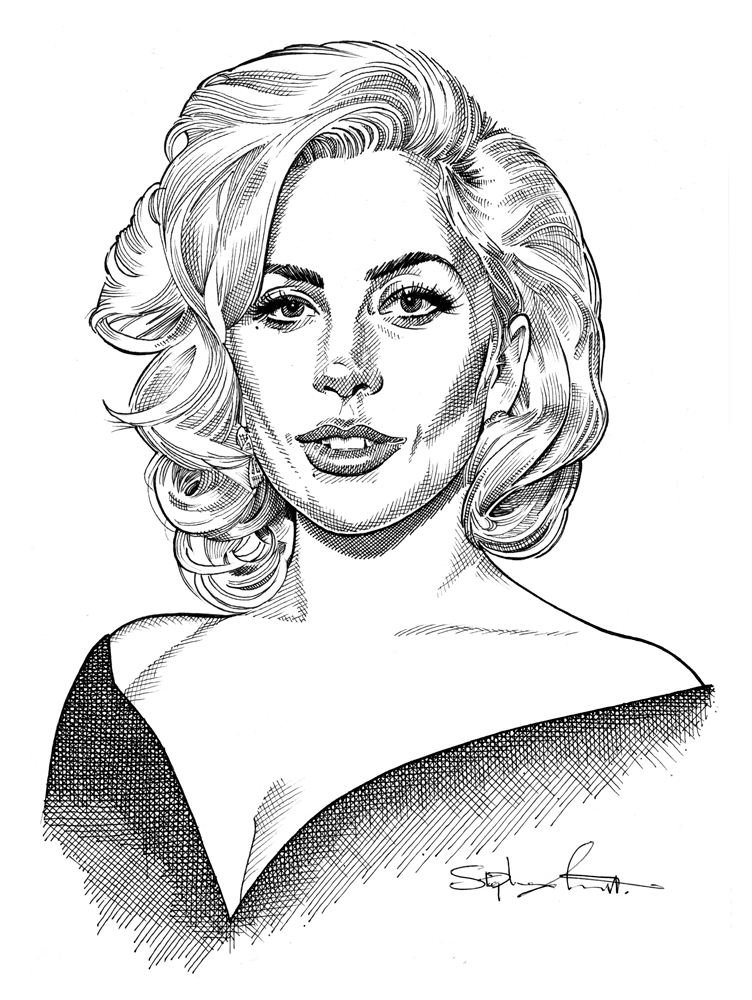Lady Gaga by Stefanosart
